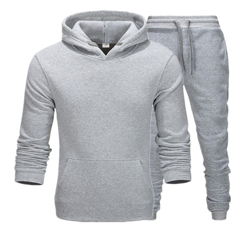 Sıcak Satış Erkek Spor Takım Elbise Ceket Eşofman Kazak Hoodies + Pantolon Set Erkek Kazak Kazak Kadın Spor Eşofman Ter Suit