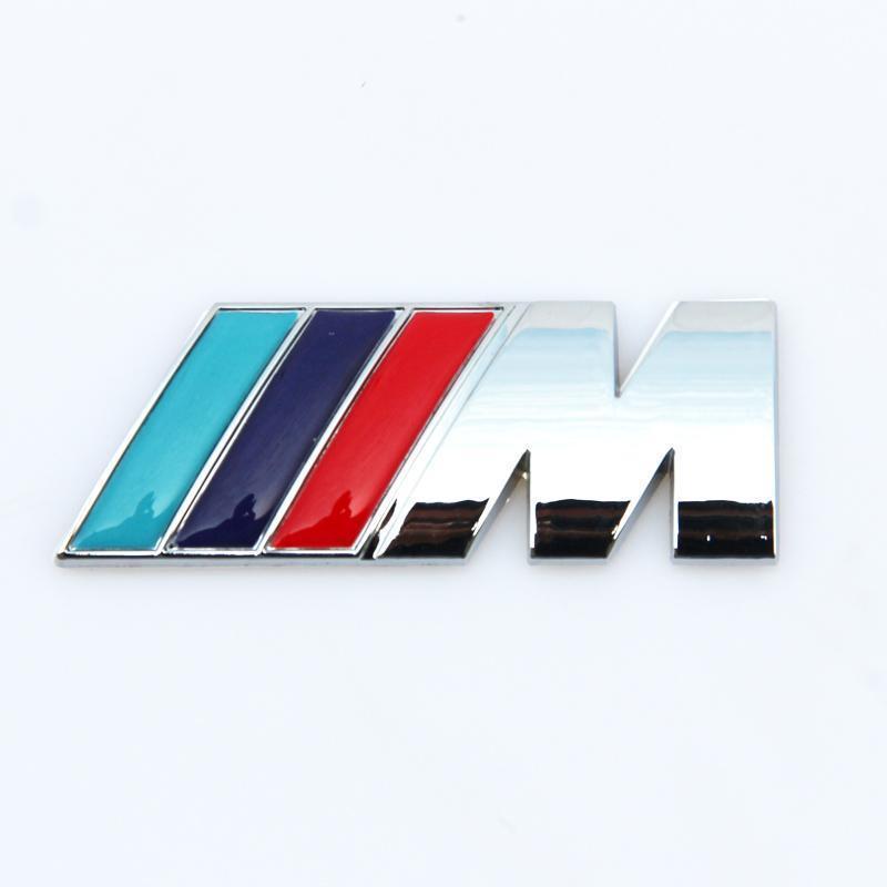 Neue M Power Series Logo-Aufkleber Emblemabzeichen Chrom 1 3 4 5 6 7 E Z x M3 M6 M6 Mline für BMW M QC65