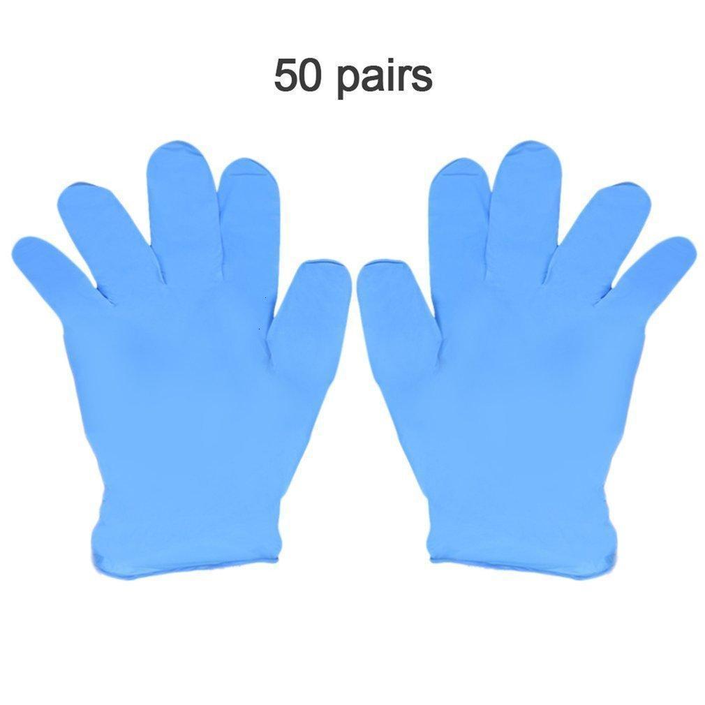 Laboratorio Azul Desgaste Nitrilo Guantes desechables 100 unids / Resistencia a la caja Electronics Pruebas de alimentos Guantes de trabajo