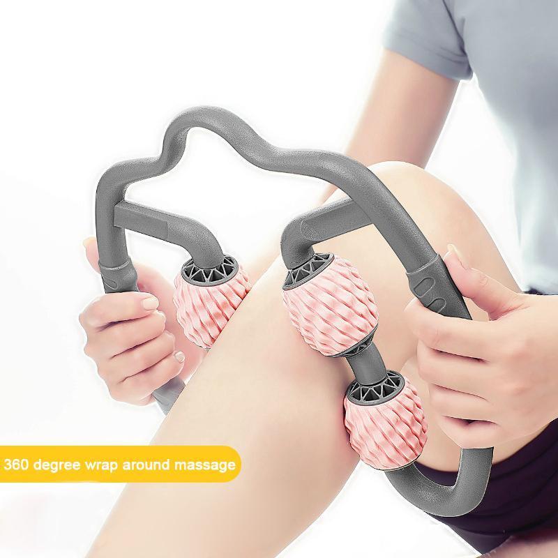 U الشكل الزناد نقطة تدليك الأسطوانة لذراع الساق الرقبة العضلات الأنسجة اللياقة البدنية رياضة اليوغا بيلاتيس الرياضة 4 عجلة