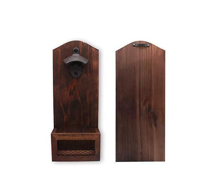 Vintage Wandmontierte Holz Flaschenöffner Biermagnet Küche Werkzeuge Barzubehör Party Geschenke DHC160