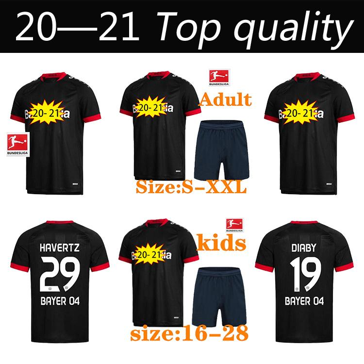 20 21 Leverkusen Soccer Jersey L.Bender 2020 2021 Bayer 04 Leverkusen Havertz Jersey Demirbay Alario Volland Hombres Camisa de Fútbol para los niños