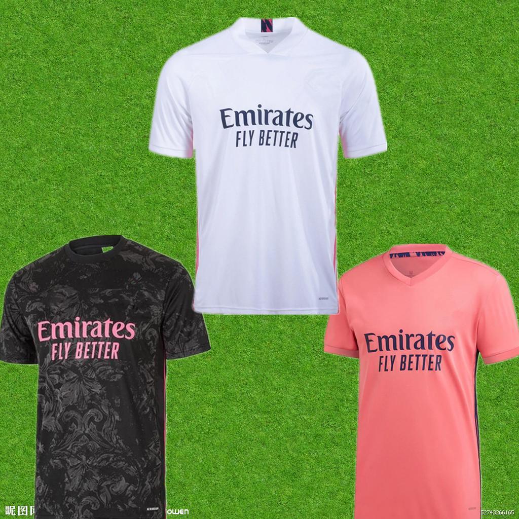 ريال مدريد لكرة القدم الفانيلة 2020 2021 Hazard Sergio Ramos Benzema Asensio Valverde Casemiro 20 21 كرة القدم قميص الرجال