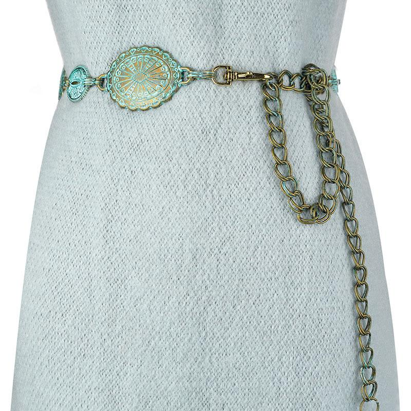 Badinka 2020 novo verão vintage metal cintura cinto fêmea boho estilo cintura cintos para mulheres vestidos cinturon mujer lj200921