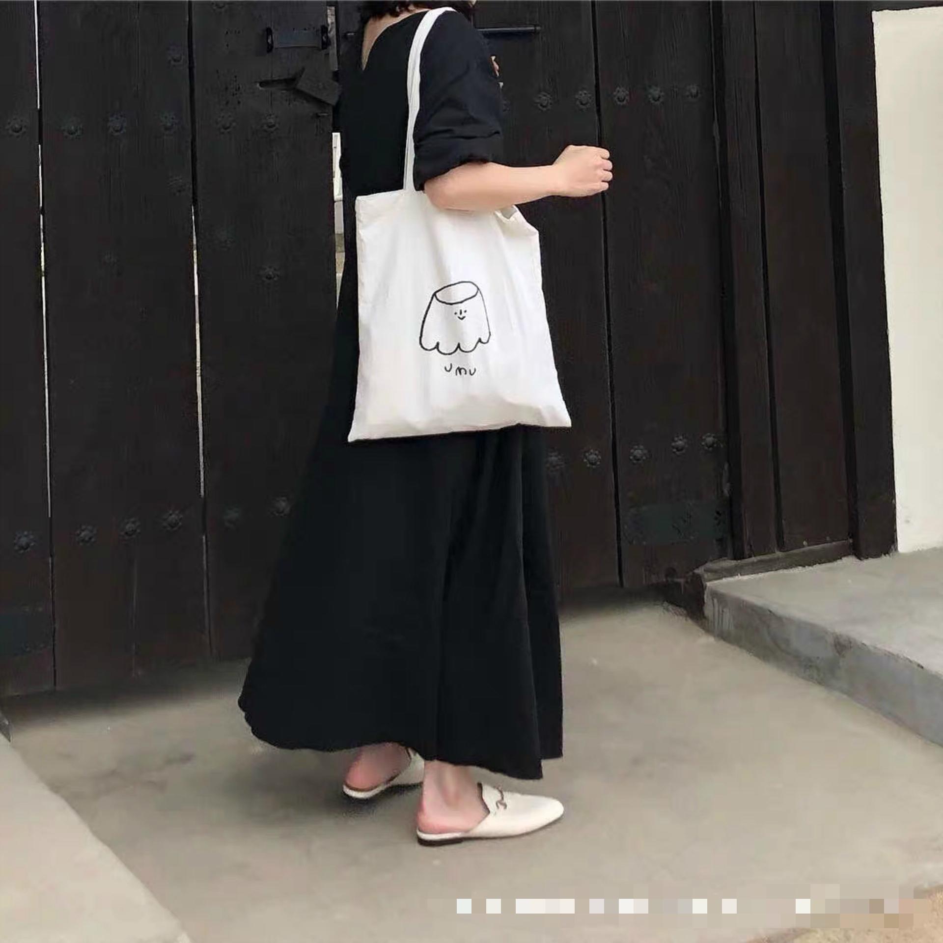 عارضة القطن التسوق السفر النساء reusable الكتف أكياس المتسوق حقيبة التسوق البيئي السيدات حمل حزمة حقيبة المتسوق BG6R
