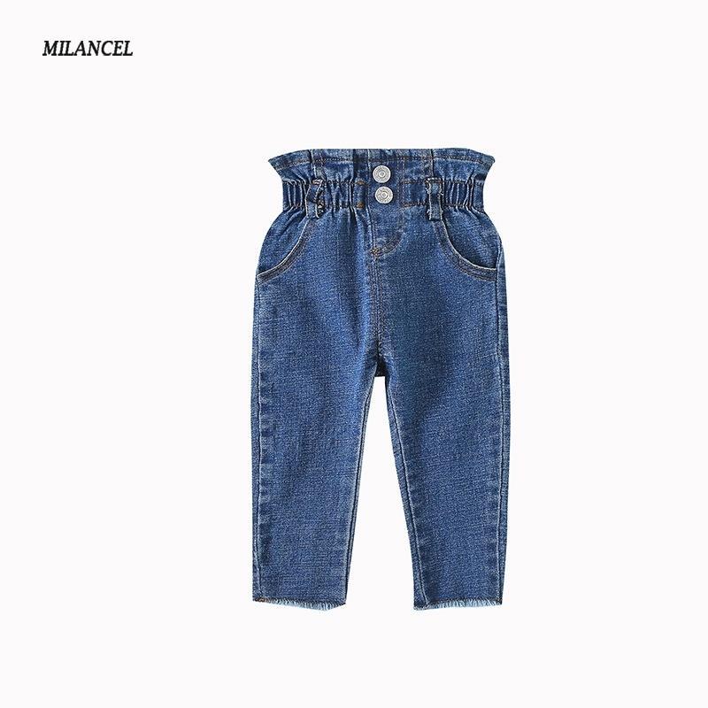 Milancel Skinny Baby Girls الدينيم السراويل عارضة الفتيان الصلبة جينز للأطفال Y200409