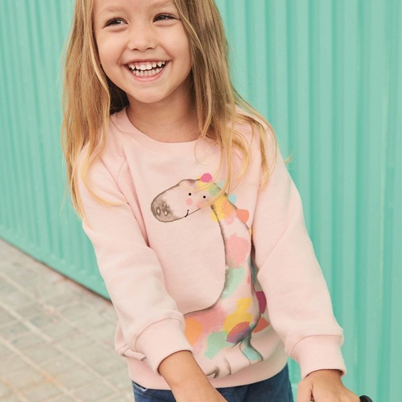 Little Maven 2019 Herbst Neue Baby Mädchen Marke Kleidung Giraffe Print Kleinkind Rosa dünn Sweatshirts Kleines Mädchen Outfit C0168 Y200704