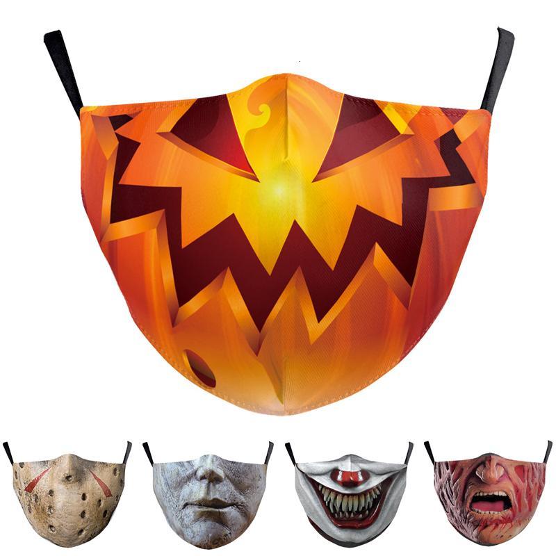 Cadılar bayramı 3D Baskılı Yüz Maskesi Solunum Toz Geçirmez Earmuffs Kişiselleştirilmiş Özel Yeniden Kullanılan İşlenebilir Parti Maskeleri