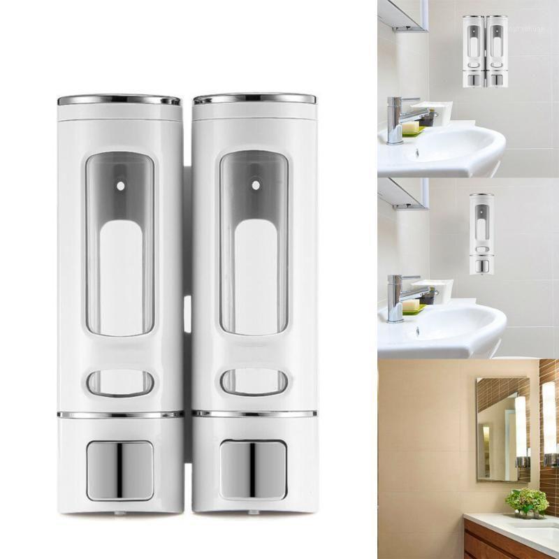 Жидковидное мыло Диспенсер 400 мл 800 мл настенные настенные круглые аксессуары для ванной комнаты Дозаторы насоса Бутылки1