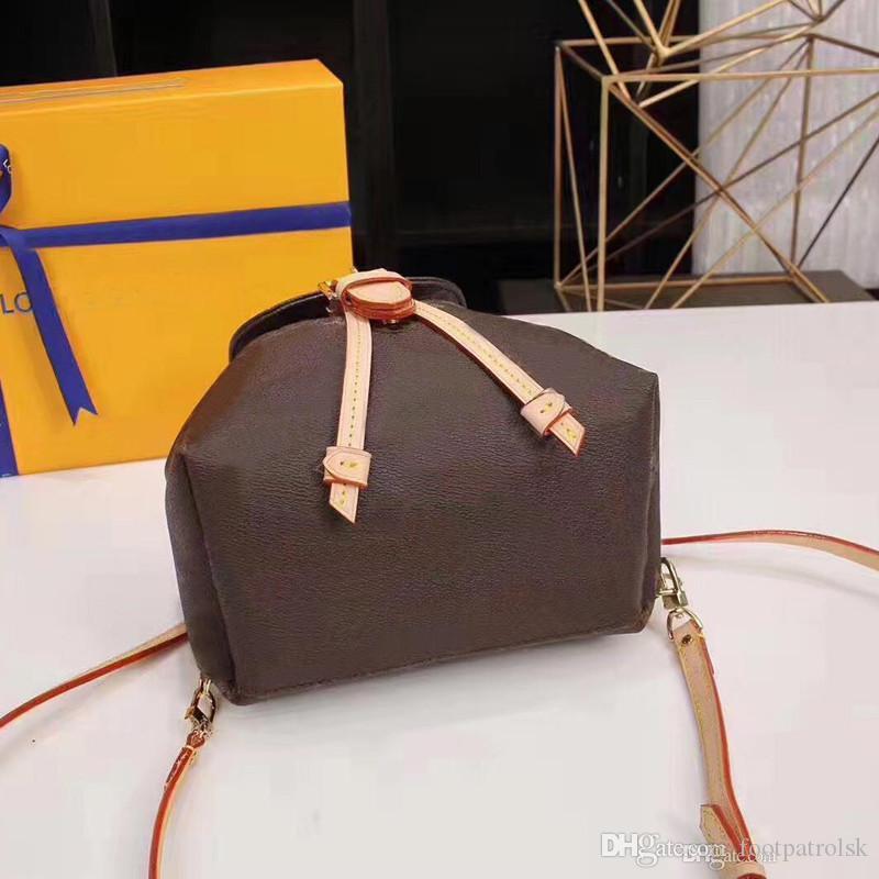 Bolso de cuero genuino Bolso de moda Mini Wome for back hombro mujeres presbicia mochila paquete mensajero paquete UPMXD