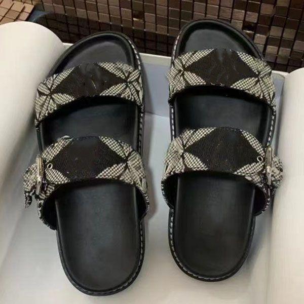 2021-Woman Slipper Designer Slipper Slipper di alta qualità Casual Slipper Genuine Pelle Stampa Flip Flop Dimensione 35-41 con scatola
