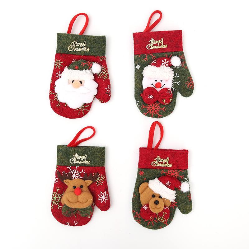Guanti di Natale Portheltry Supporto Xmas Mini Red Babbo Natale Babbuccia Borsa Festa Decor 4 Design Carino regalo Cappello da tavola Holders351