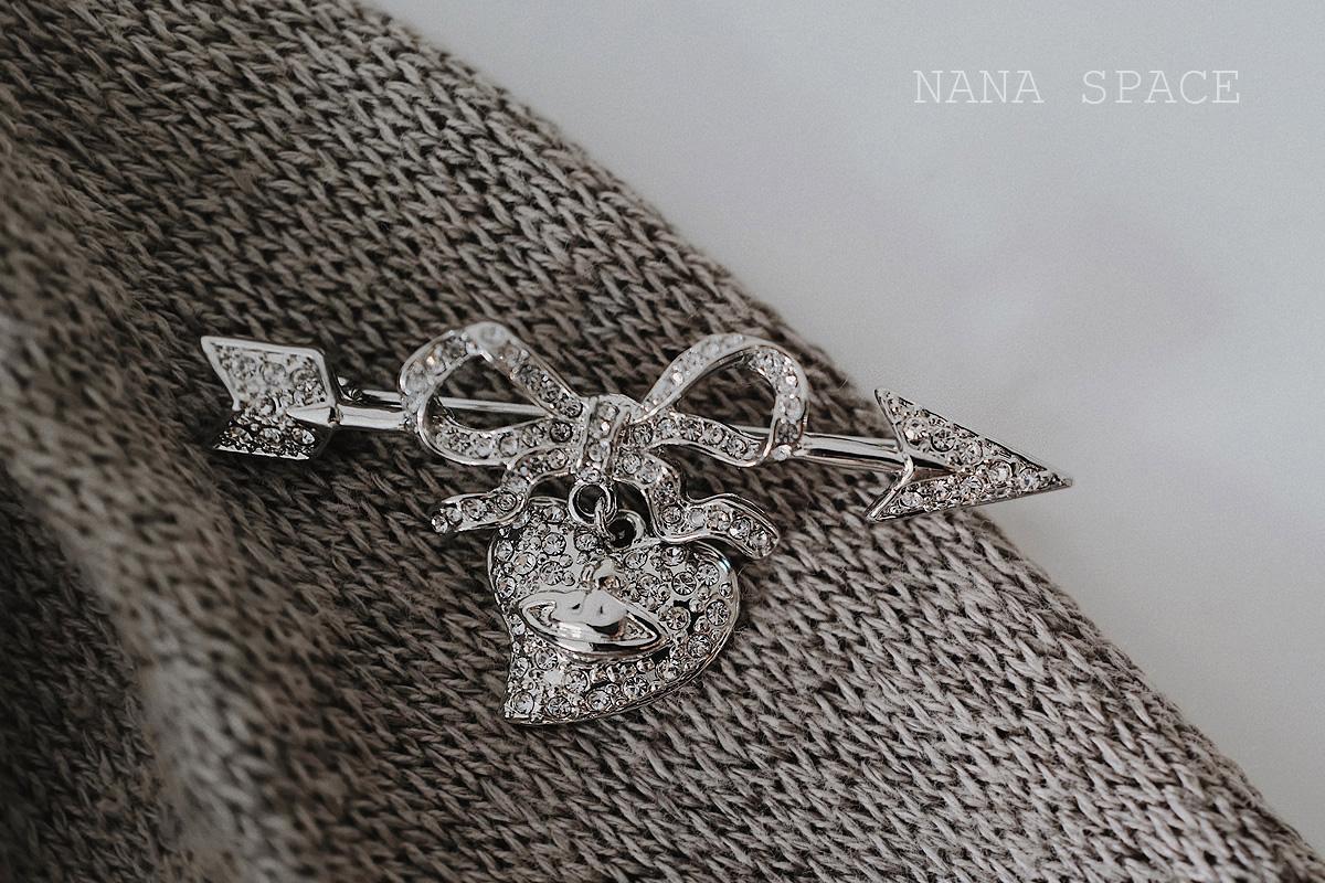 Nana Espaço - Oeste Taiwanês Diamante Completo Diamante Veterinário Wei Uma Seta Desgaste Prata Brooração Punk Atmosfera