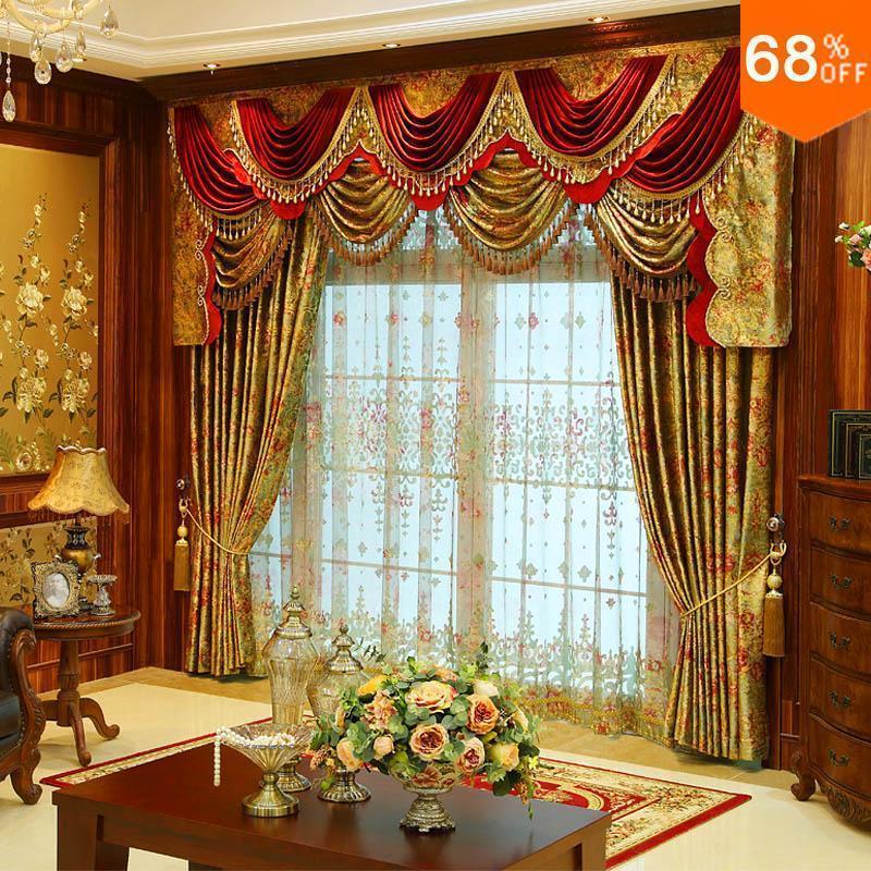 Роскошный занавес для оконного завеса Splendid WOW Tenda Finestra Valance Занавески для гостиной Rideau Hotel Drapery с Valance LJ201224