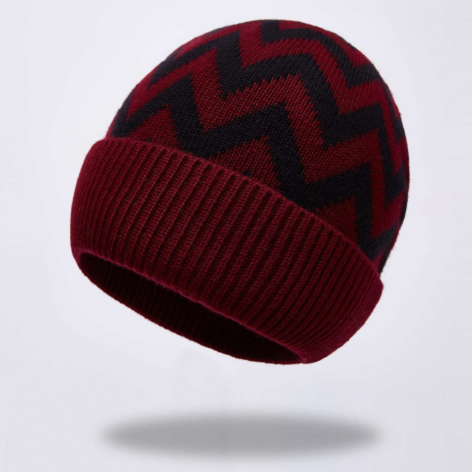 Uomini donne Cappello in lana puro 100% autunno inverno a strisce in pile in pile maglia sportiva calda copertura cappuccio