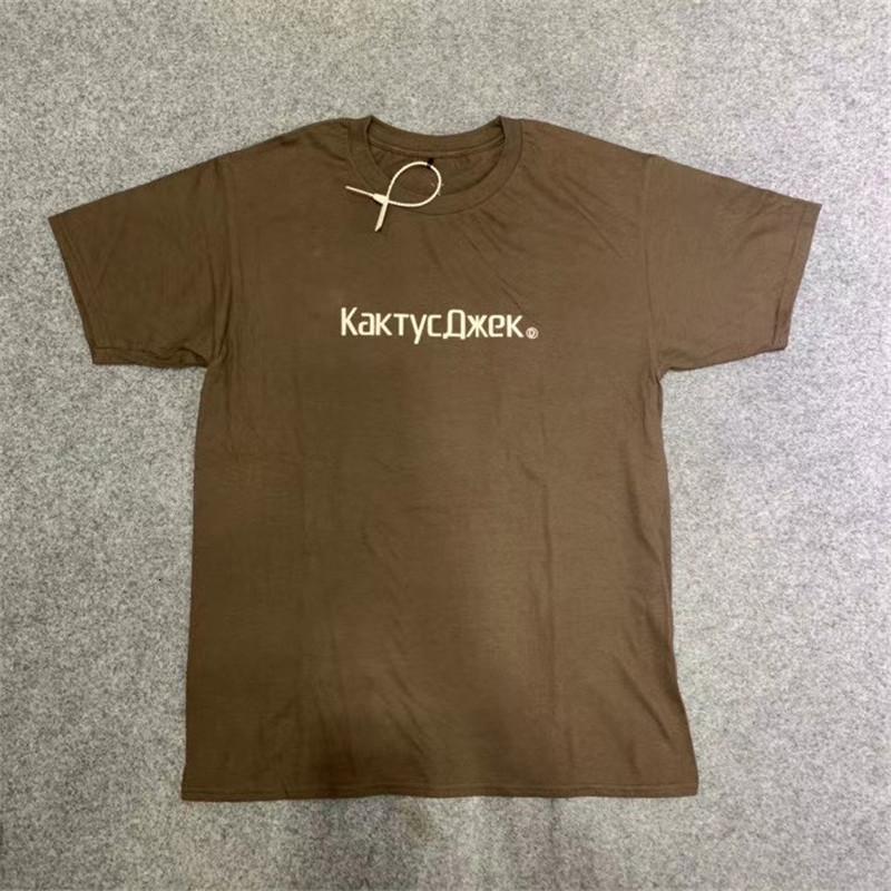 2021 Neue Travis Scott Cactus Jack CJ T-Shirt Frauen Übergroßen Astroworld T-shirt Männer Tops T-Shirts 0VL2