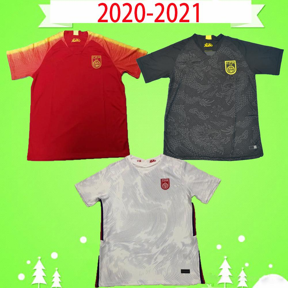 2020 2021 China soccer jerseys National Team 20 21 Men home red away white Football shirts third black dragon Uniforms Chinese top quality