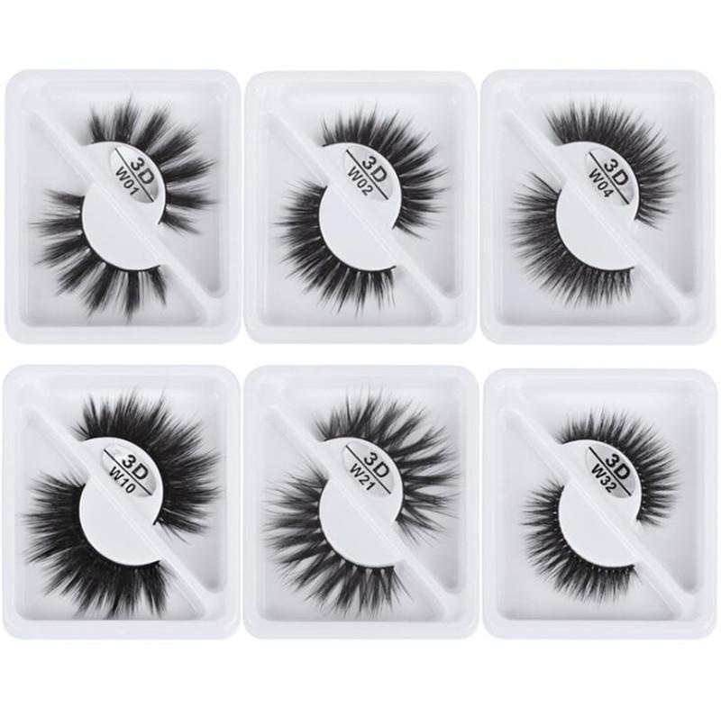 New Faux 3D visón Pestañas pestañas Natural Fake Mink Lestes Falso Pestañas Maquillaje Crueldad Lámina Free Theses Eyelash Extensión