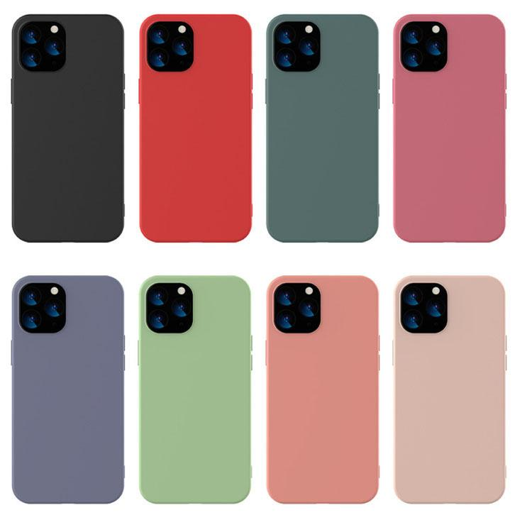 Custodia per cellulari Ultra Slim Custodia per cellulare Soft TPU Cover per iPhone 12 11 Pro Max XS Max XR X Plus Guscio di telefono antiurto