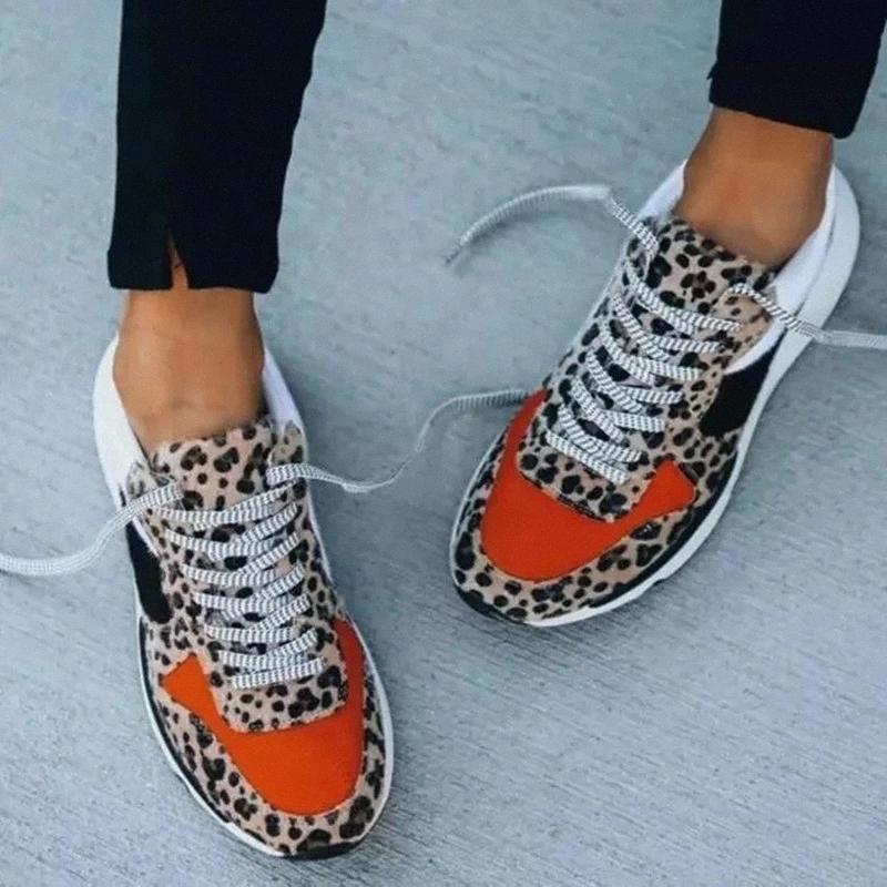 2020 Été Chaude Chaude Chaussures Femmes Sneakers Léopard Mesh Souffle Femmes Running Chaussures Femme Femme Plateforme Plateau de Zapatos Mujer # GS2H