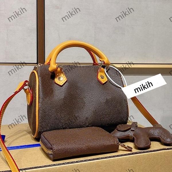 Moda feminina bolsa de lona clássico impressão top design de ombro sacos de ombro três peça mini de alta qualidade senhoras bolsa bolsa bolsa