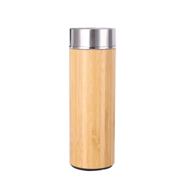 17 oz original bambou Tumbler avec thé infuseur et Bouteille Passoire eau en acier inoxydable à double paroi à isolation sous vide Tasse Voyage LX1605