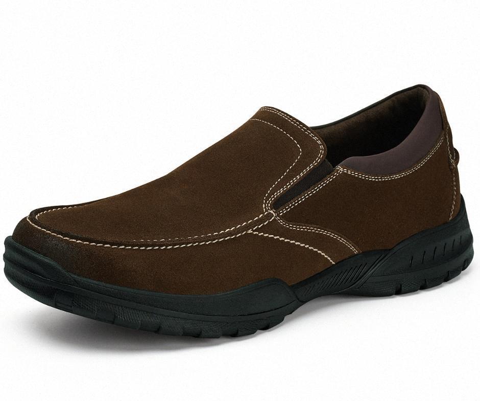 GM Golaiman 2020 Design Casual Chaussures Homme Slip-On Daim Cuir Slip Résistant Sneakers de haute qualité R9JW #