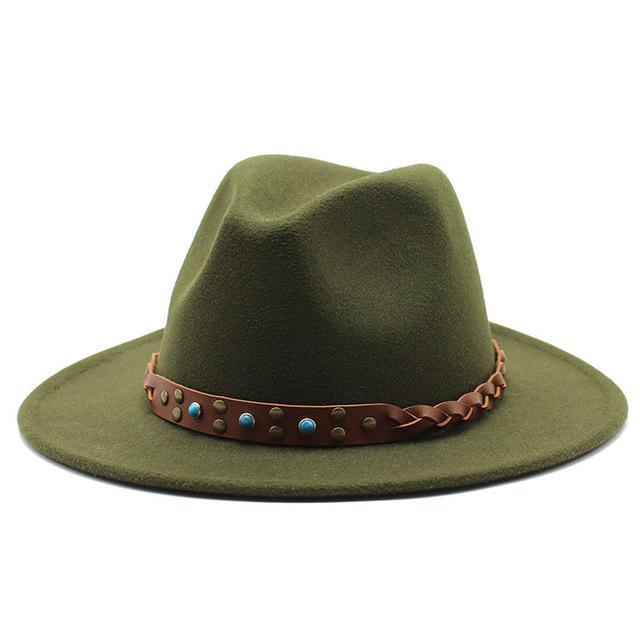 Einfache breite Krempe Wolle Fedora Hut für Frauen Britischer Stil Filz Jazz Hüte Fall Winter Panama Kleid Hut
