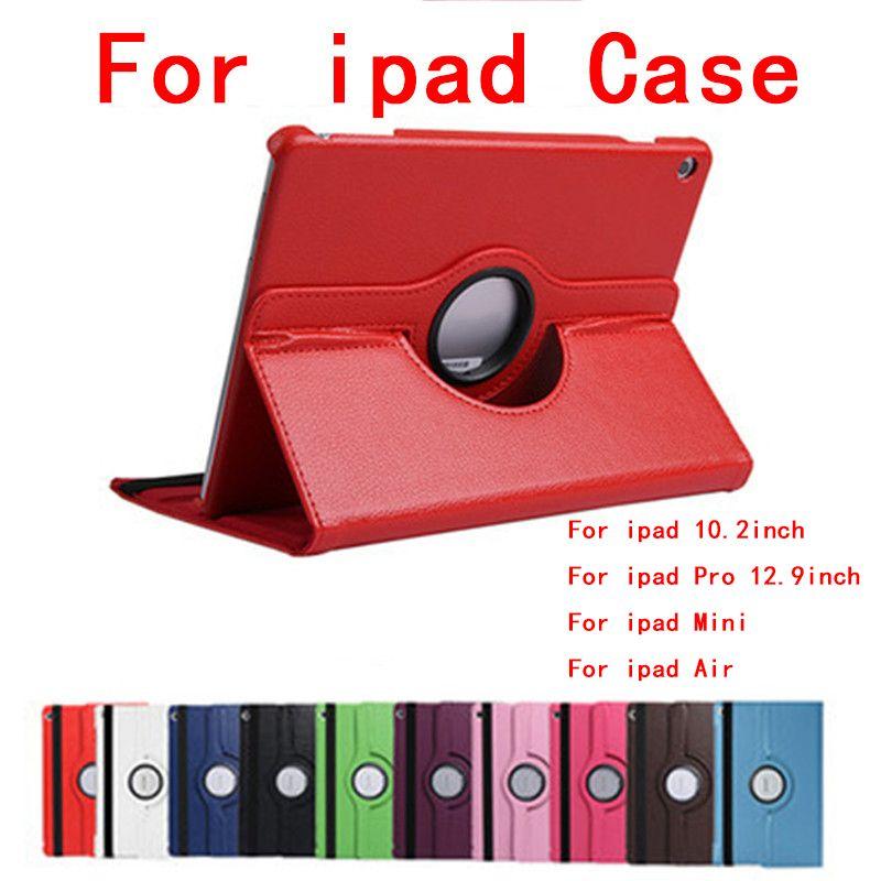 Pour ipad pour iPad Pro Mini Air Spin Holder Cover 12,9 10,2 10,5 9,7 pouces Housse de protection Coque