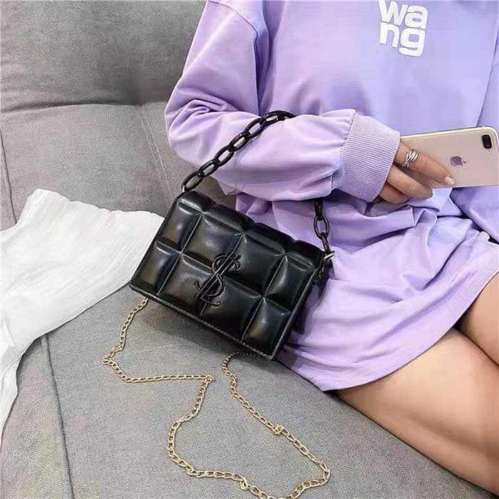HBP 새로운 고품질 숙녀 패션 숄더 가방 클래식 가죽 플라스틱 체인 0000