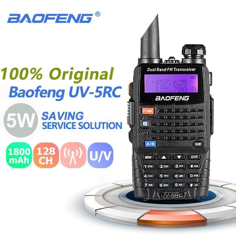 Baofeng UV-5RC Walkie Talkie Dange Range Dual Band Двухсторонний Радио HF Приемопередатчик Baofeng UV-5R PLUS Версия CB Radio Amador Telsiz