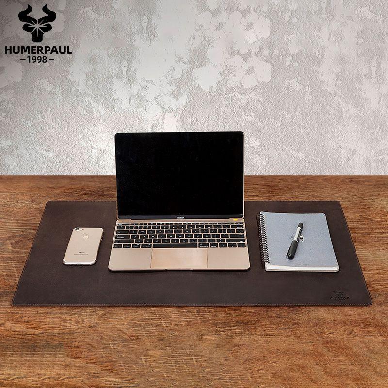 Humberpaul 100% Nubuck Puo in pelle Topo tastiera Solido Tastiera Topo Mat Office Desk Computer Desk Mat Mousepad Gaming Mice Pad per laptop