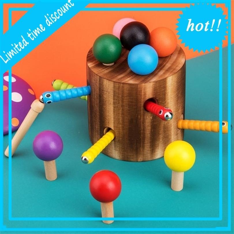 Деревянные игры грибы Bugs Capture Tool Color Stick Детские развивающие игрушки
