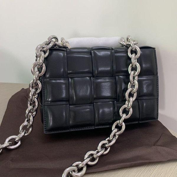 Çanta Kaset Yastıklı Zincir Crossbody Çanta Debriyaj Kadın Moda Deri Ekose Omuz Yastık Kadın Bayanlar Stereoskopik Çanta Edswe