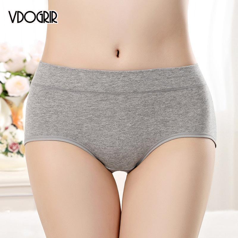 Vdogrir 2020 mi-hausse coton femme culotte sous-vêtements Sous-vêtements sans soudure Fashion style chaud Solid Slips de femme confortable Lady Lingerie