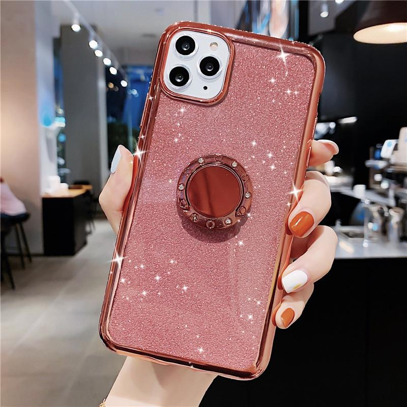 Diamond Phone Shell Case with Bracket Diamond Luxury Glitter Custodie telefoniche per iPhone 12 Pro Max iPhone 11 Pro XR X XS MAX 7 8 6S Plus
