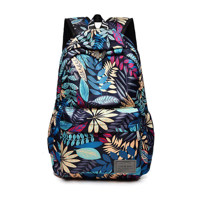 Print Hawaii Style Brand 2020 Backpacks For School Teenagers Girls Bags Fashion Women Travel Back Pack Q1113