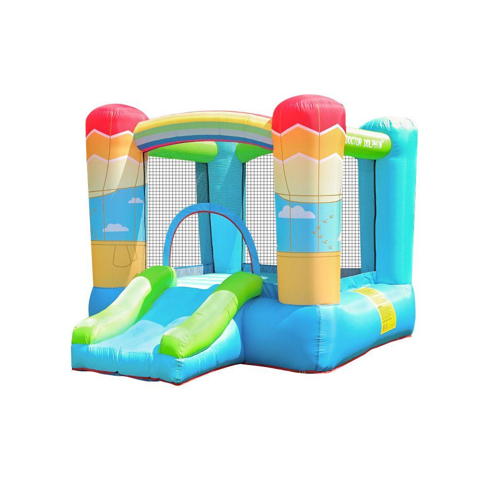 Небольшой надувной отпрыгивающий замок Bouncer House Jumper Garden Apply Blue Park для детей на открытом воздухе Смешная вечеринка Детская площадка Батут крытый дом веселья игра