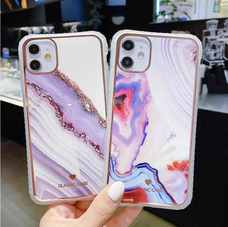 Degrade Mermer Doku Darbeye Dayanıklı Telefon Kılıfı Için iPhone 12 Pro Max 11 11Pro Max XR XS Max x 7 8 6s