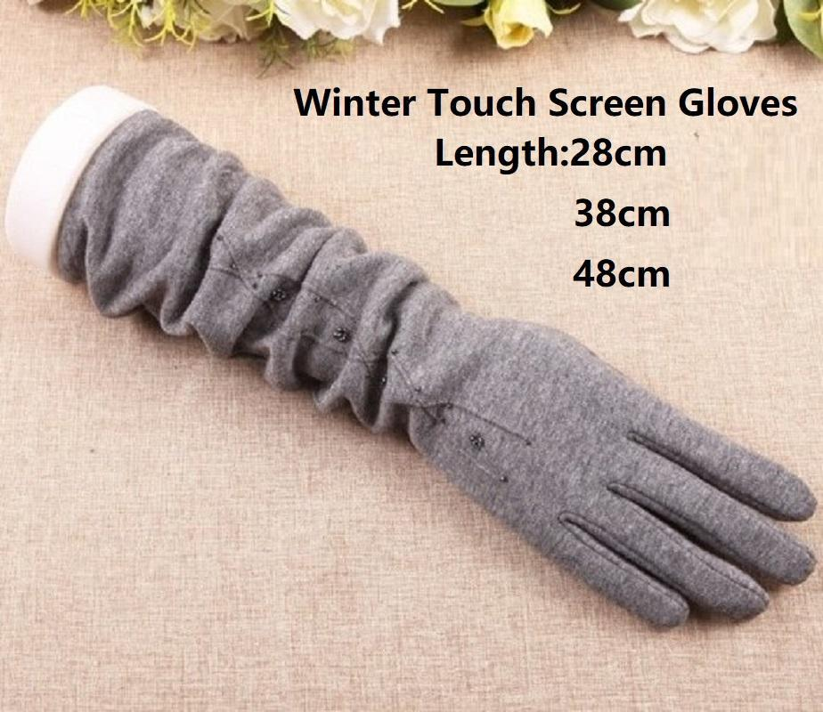 Beş Parmaklar Eldiven Kış Bayanlar 2021 Gloveswarm Uzun Kol Kollu Moda Sonbahar Rahat Güzel Dokunmatik Ekran