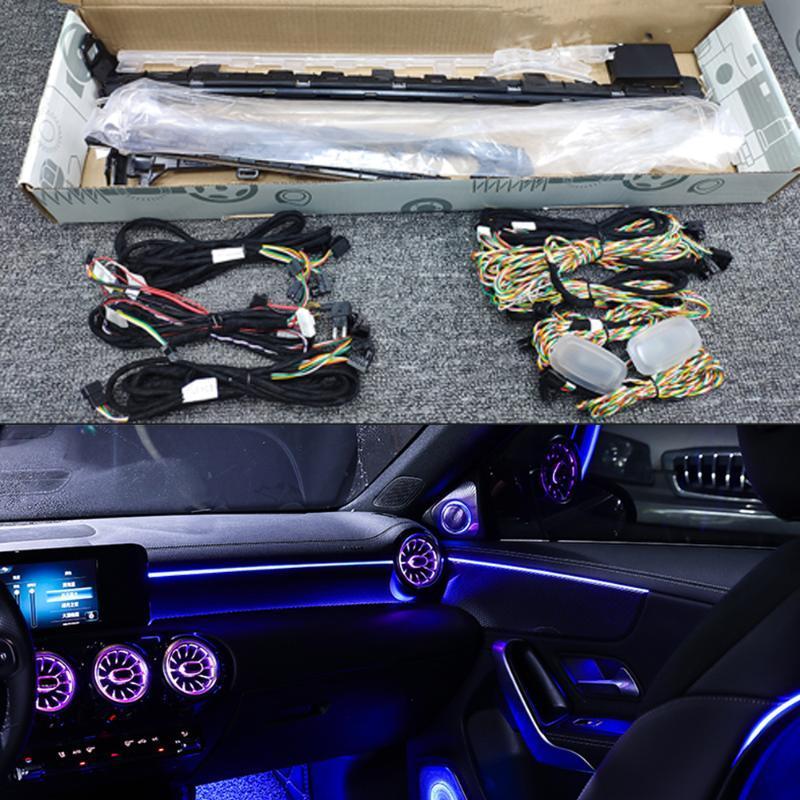 Atmósfera de coche Luz ambiental para una clase W177 Automotriz Interior de ventilación Luz decorativa Automotriz Lámpara ambiental 64 colores