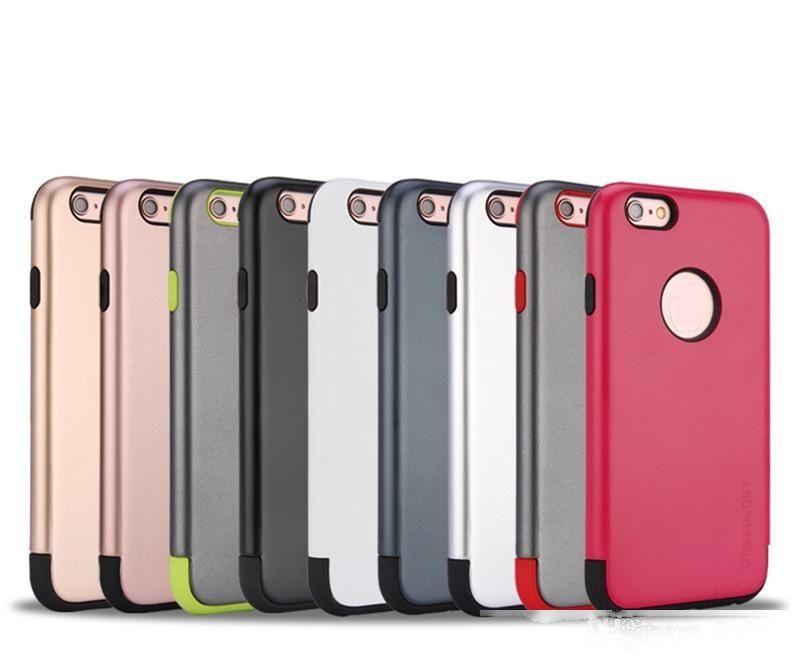 2 em 1 Slim Smartphone Capas TPU Capa de volta para iPhone 7 Acessórios para telefone celular