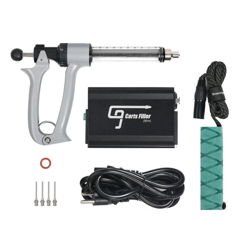 그린 라이트 베이프 G9 카트 필러 총 기계 25ml 루어 잠금 장치가있는 Luer 잠금 장치가있는 액체 vape 충전 장치