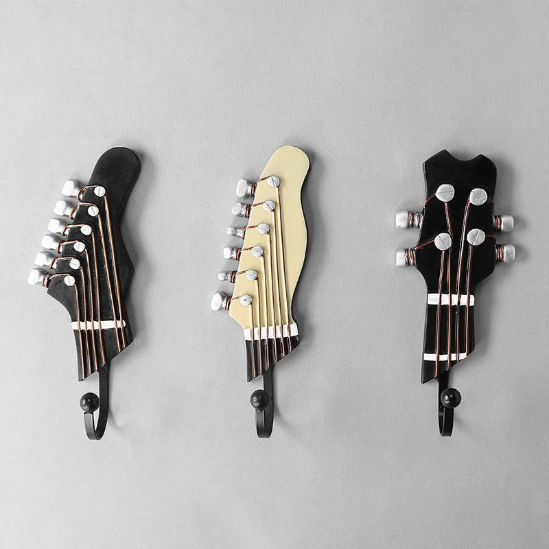 Kancalar Rails 3 adet / takım Vintage Gitar şeklindeki Duvar Reçine Müzik Enstrüman Modeli Bar Yatak Odası Ev Için Kapı Kanca Süslemek MX5081158