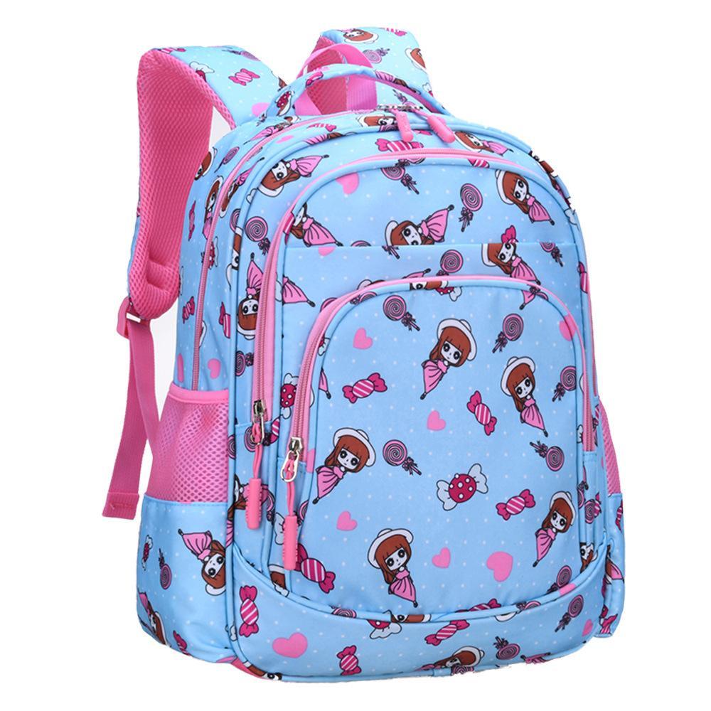 Детская принцесса сумка для девочек 2 размера первичный 1-3-6 класс рюкзаки милый мультфильм большая емкость девушка школьные сумки мочела