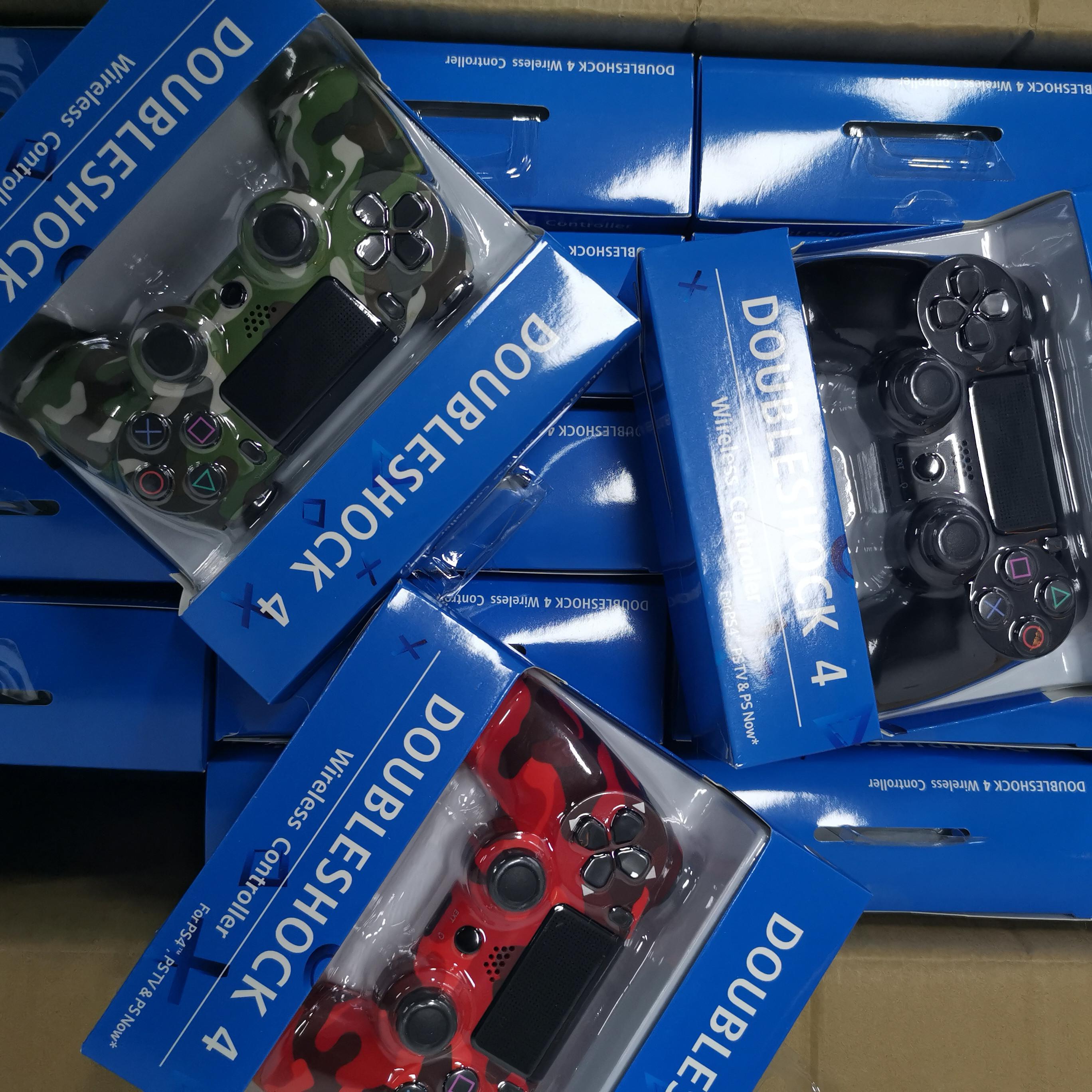 وحدة تحكم بلوتوث لاسلكية ل ps4 الاهتزاز المقود gamepad تحكم لعبة لسوني محطة اللعب مع مربع التجزئة 23 ألوان dhl مجانا