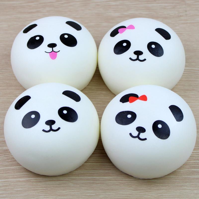 2019 novo 4cm 7cm 10 cm kawaii macio scented squishy jumbo panda lento aumento do aperto pão acessórios de telefone charme squishies pão