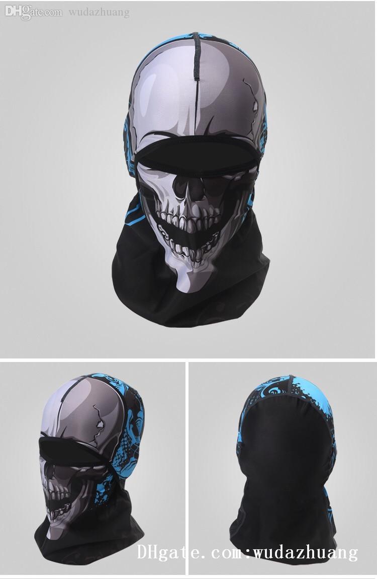 Radfahrenohr Muff Atmungsaktiv schweißsichere Stirnband Sonnenschutz Kopfbedeckung Magie taktische halbe Gesichtsmaske dünne Abschnitt Sport Headwear D10114