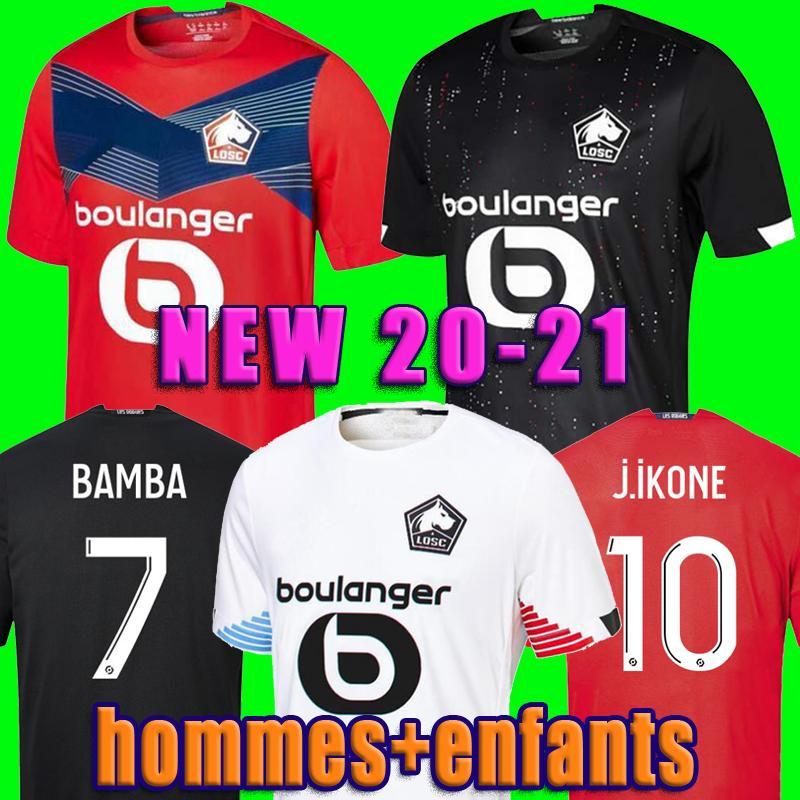 2020 2021 LOSC Lille Soccer Jerseys DAVID FONTE BAMBA YAZICI Football Shirt 20 21 Lille Olympique JIKONE 10# Maillot Hommes Enfants Kids Kit