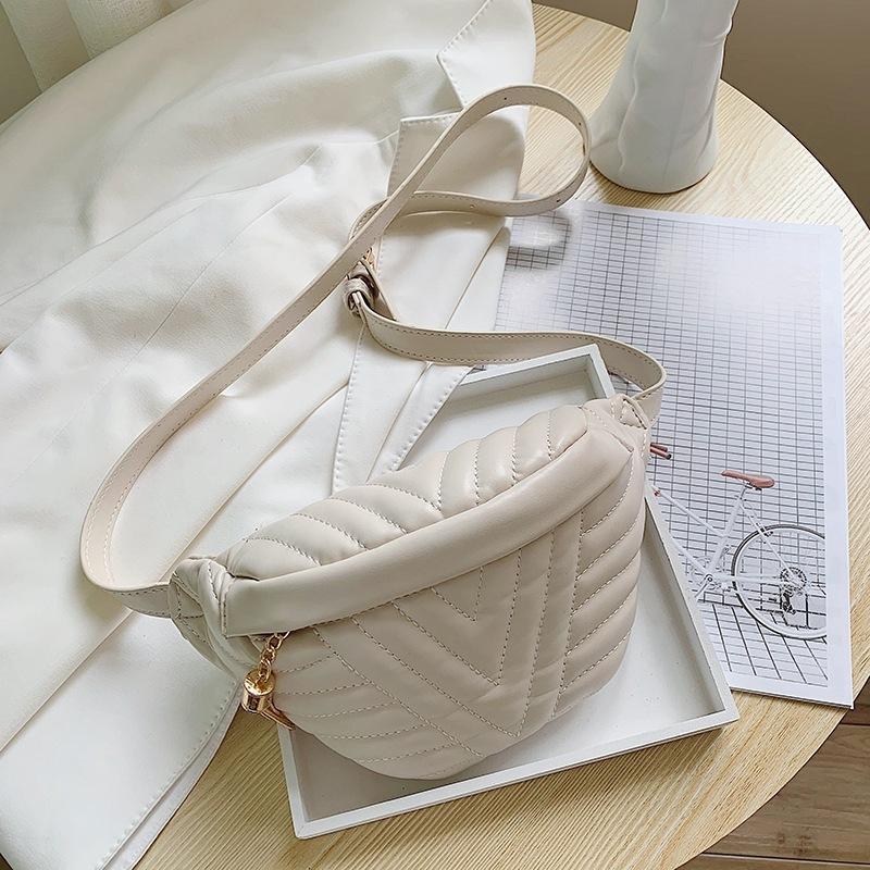 Moda Mujeres Mensajero Bolsa de bolsa Paquete de cuero Cintura Bolsas Chica Viajes Pequeño Paquete Fanny Paquete Bolsas Mini bolso de hombro